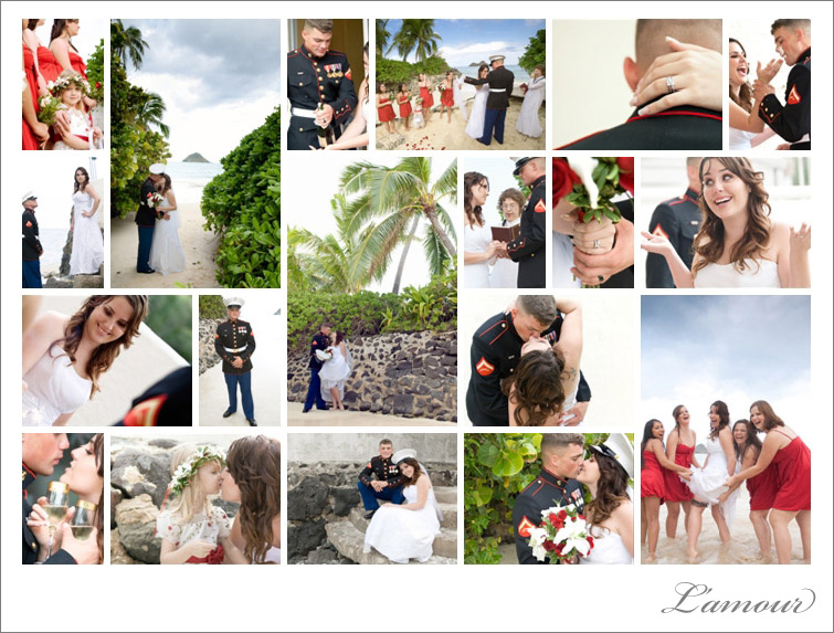 Military Wedding Photography on Lanikai Beach Oahu Hawaii