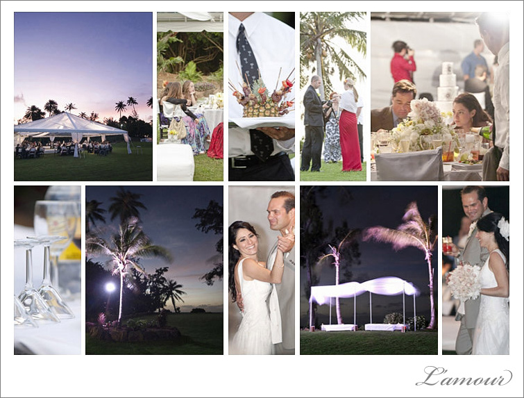 Oahu wedding photography of private estate wedding at loulu palm on north shore