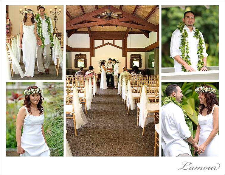 Haiku Garden Wedding ceremony and Haleiwa Joe's reception on Oahu Hawaii