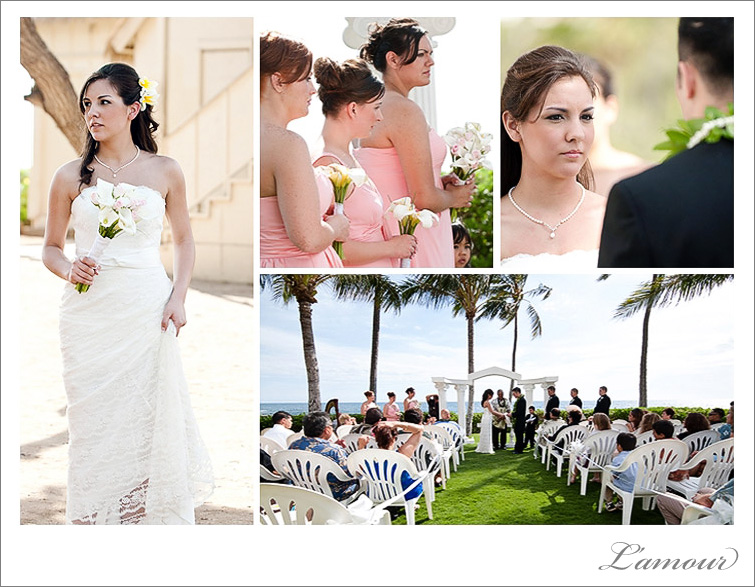 Paradise Cove Wedding Ceremony Oahu Hawaii Photographers from L'amour