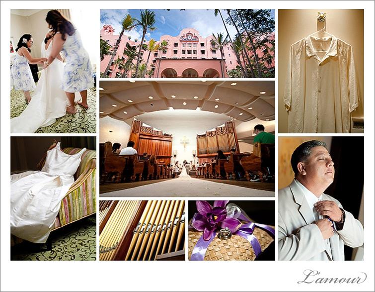 Royal Hawaiian Hotel Wedding preparation photography in Waikiki Beach Oahu Hawaii