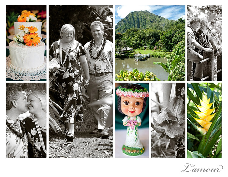 Destination Wedding in Oahu Ceremony and Reception Photographers from L'amour Photography