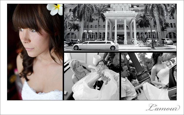 Moana Surfrider Hawaii Destination Wedding Photography by L'amour