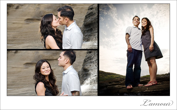 Engagement Photographer Portraits in Honolulu on the island of Oahu in Hawaii.