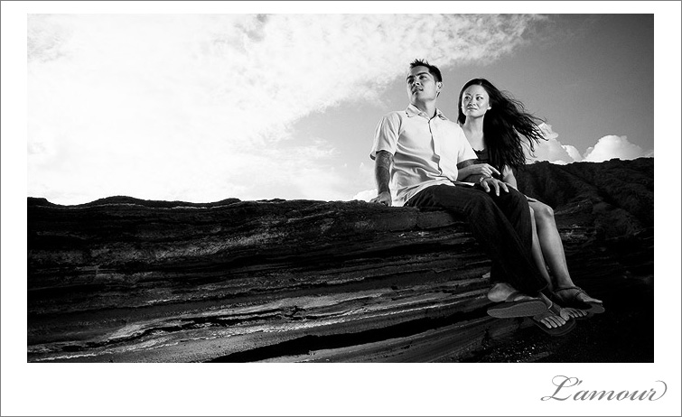 Unique and Creative portrait on Oahu by L'amour photographers in Hawaii