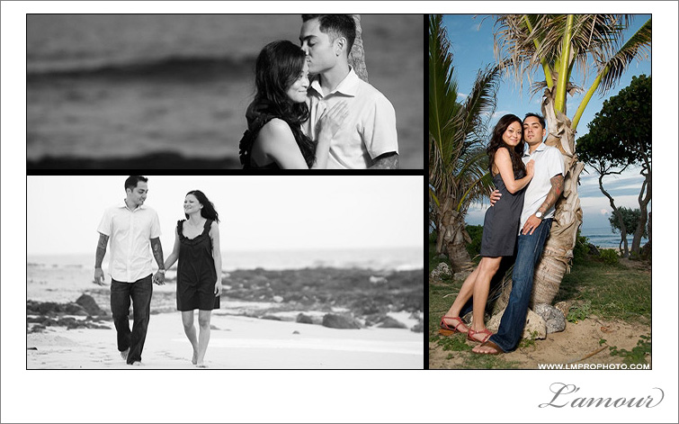 Photojournalistic Wedding and Engagament Photgraphy in Hawaii on Oahu by L'amour photography