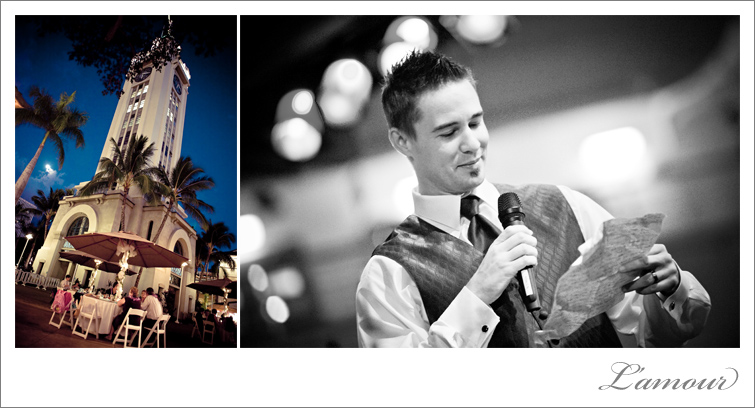 Hawaii Aloha Tower Wedding Night Photography by L'Amour based in Honolulu, Hawaii