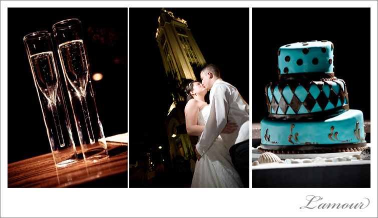 Night Reception Aloha Tower Wedding Photographers L'Amour in Honolulu, Hawaii