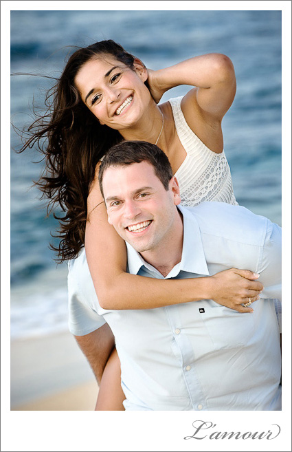 Oahu Engagement Portraits taken North Shore on the Beach by LAmour Photography