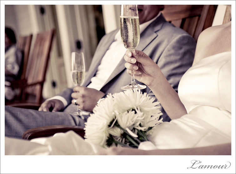 Moana Surfrider Wedding cheers
