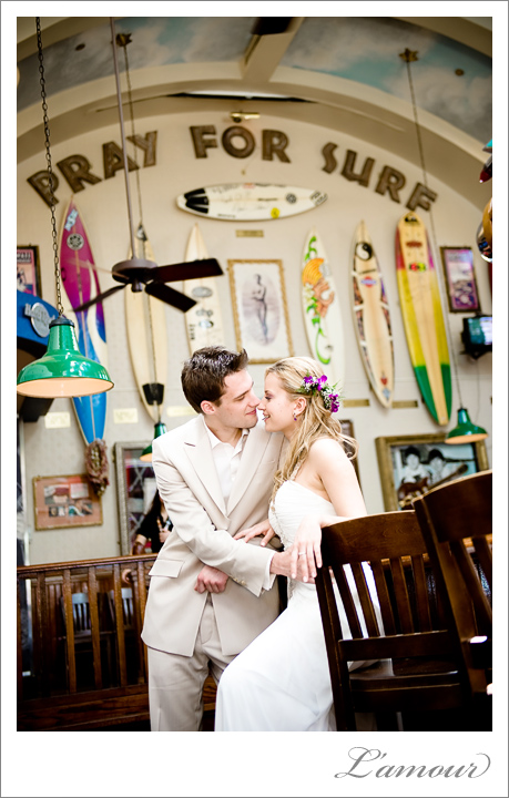 Hawaii Wedding Photographers in Honolulu and Waikiki at the Hard rock Cafe