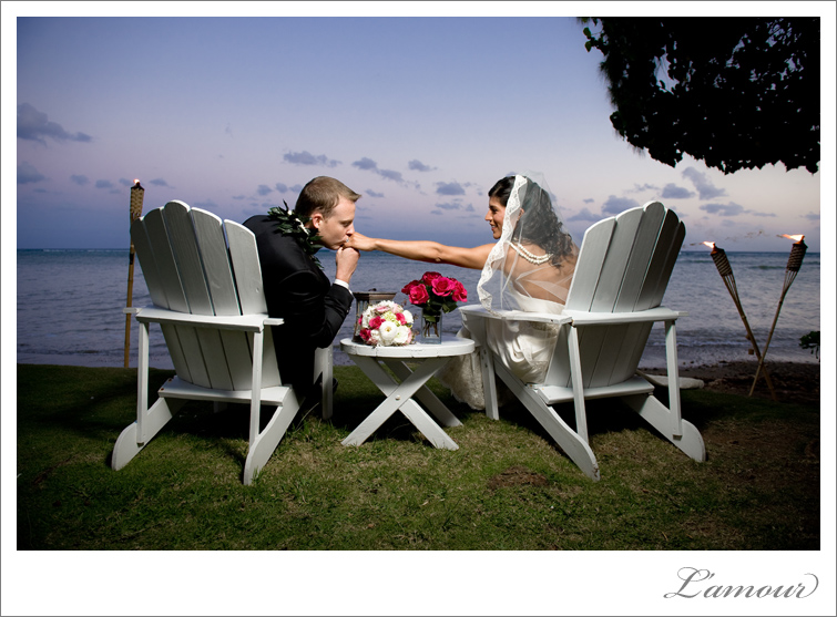 Hawaii Wedding Photographers on Oahu at Bayer Estate Sunset  Photos
