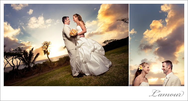 oahu sunset wedding