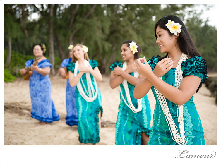 Hula Wedding Dancers at Turtle Bay Oahu