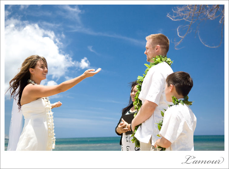 Bride performs Hula Wedding Dance in Hawaii