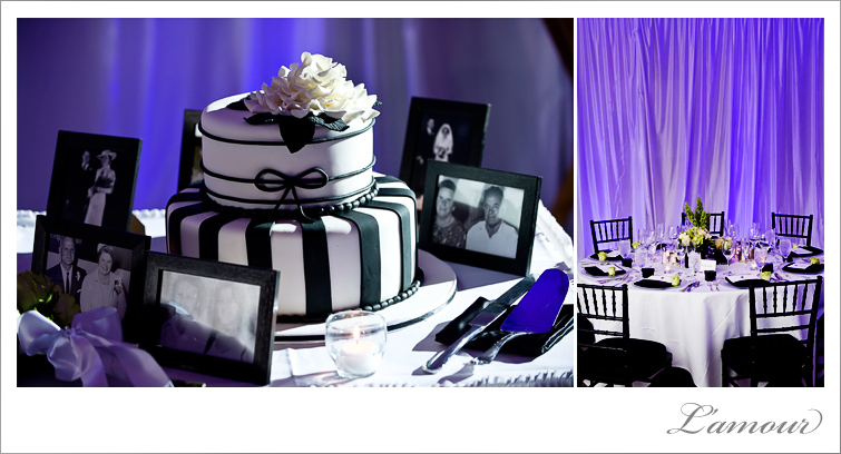 Black and White wedding theme and wedding cake