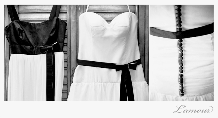 Black and White Hawaii destination wedding dress by L'Amour Photography Oahu