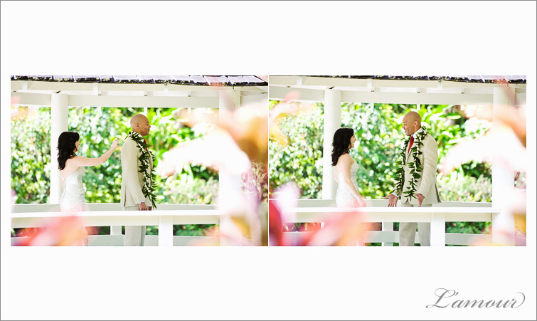 Oahu Wedding Photographer at Haiku Gardens in Hawaii
