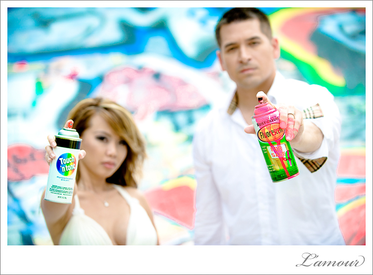 Trash the Dress Session with Spraypaint in Hawaii