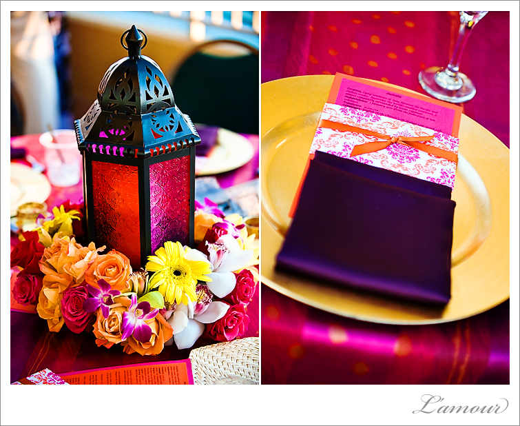 Hawaii Wedding Photography with Moroccan theme with purple, red and orange wedding theme