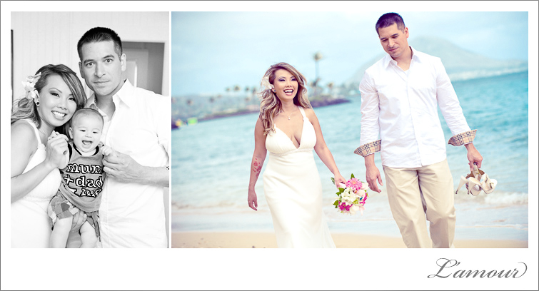 Hawaii Wedding Photography by Lamour Photography based in Oahu