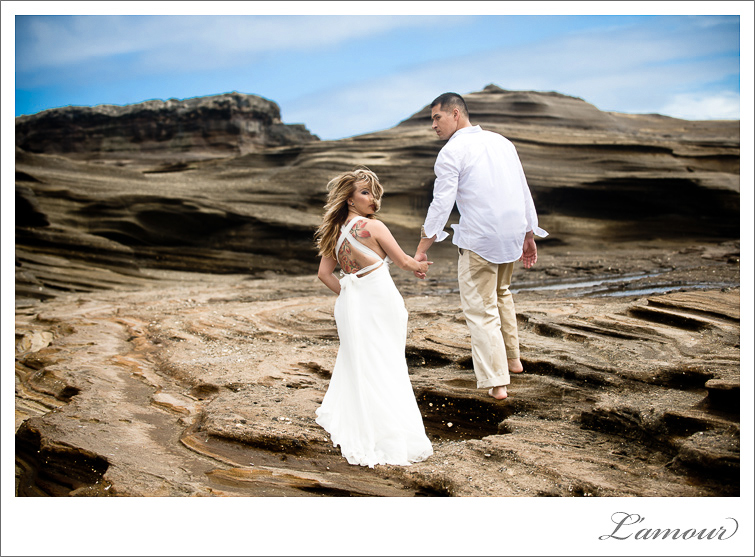 Hawaii Wedding and Trash the Dress Photos