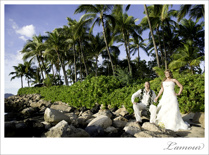 Ihilani Wedding Photographer at JW Marriot in Oahu Hawaii