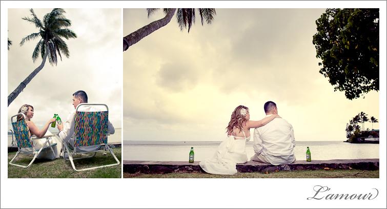 Oahu Wedding Photographers in Hawaii of Lamour Photography