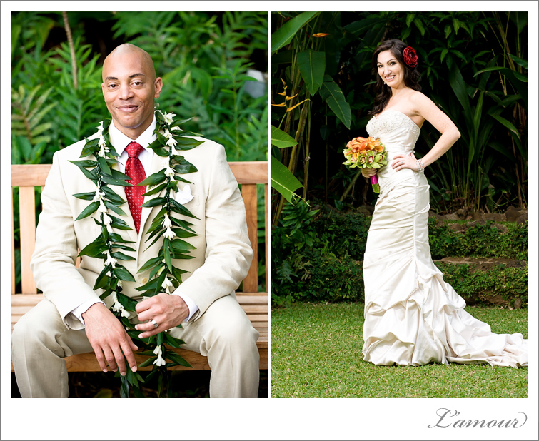 Oahu Wedding Photography at Haiku Gardens in Hawaii