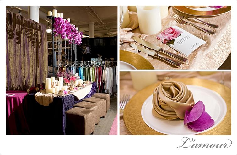 REA linens and Su-V Floral at the Hawaii Bridal Expo
