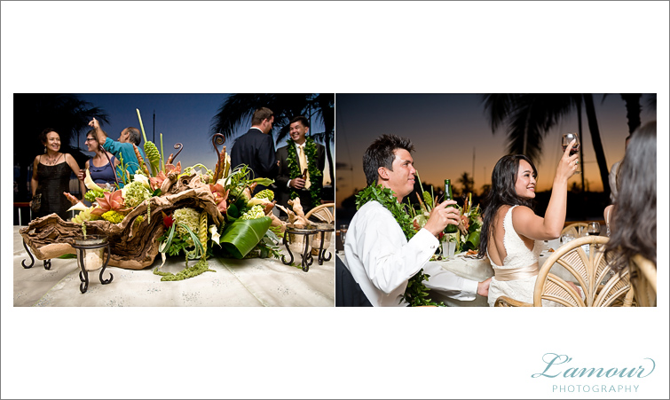 Honolulu Sunset Wedding Photos by Lamour Photography