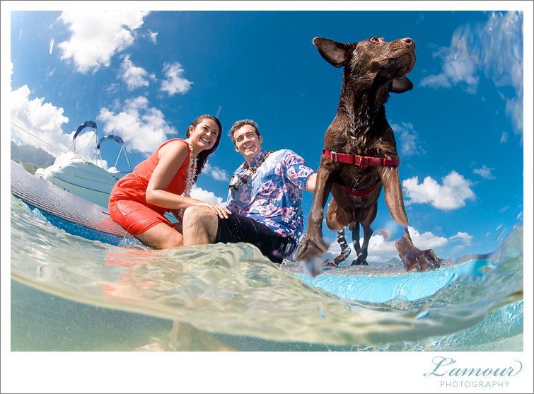 Oahu Wedding Photographer Underwater