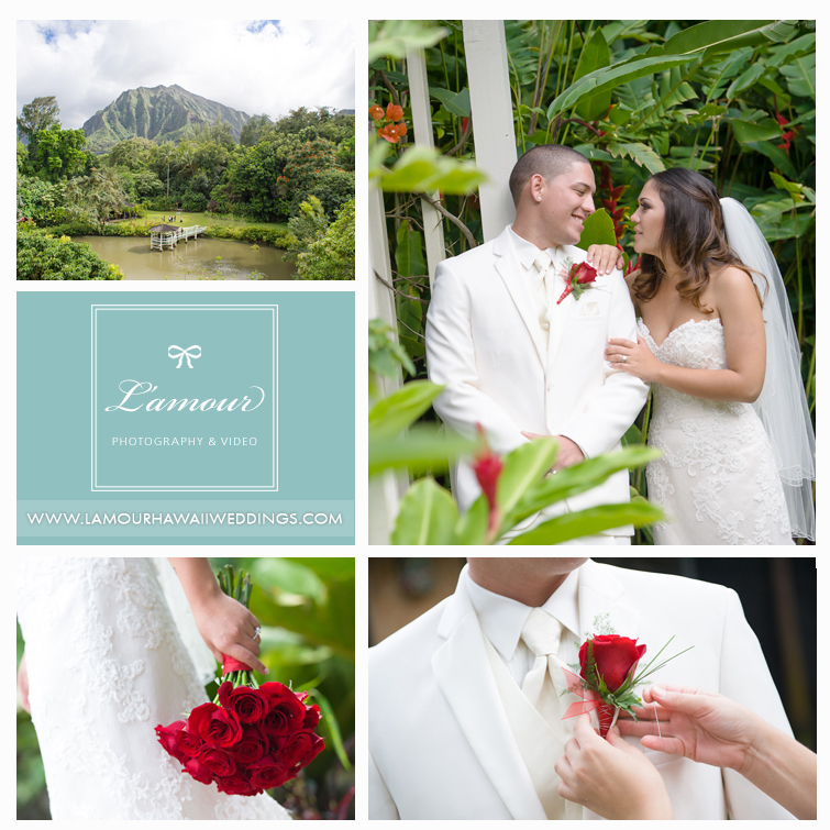 Oahu Wedding Photographer for Haiku Gardens