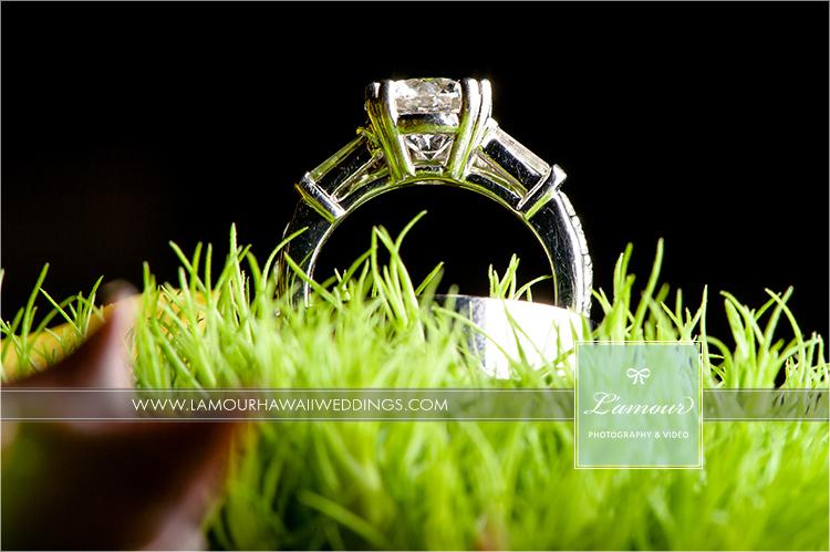 Wedding ring photos in hawaii