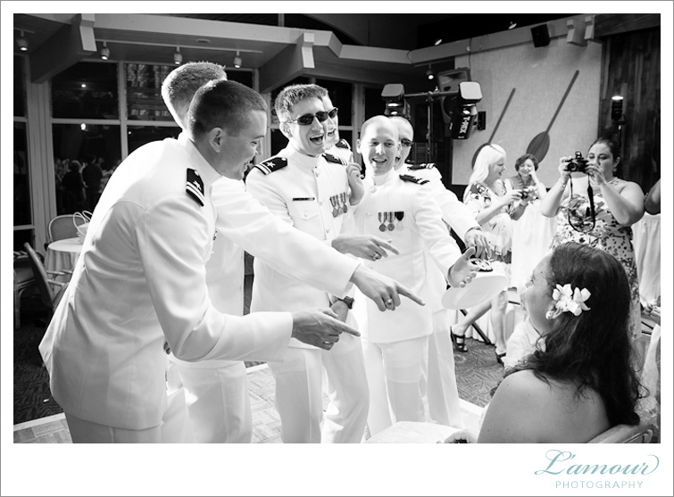 Groom and Groomsned serenade Hawaii wedding Bride like in Top Gun
