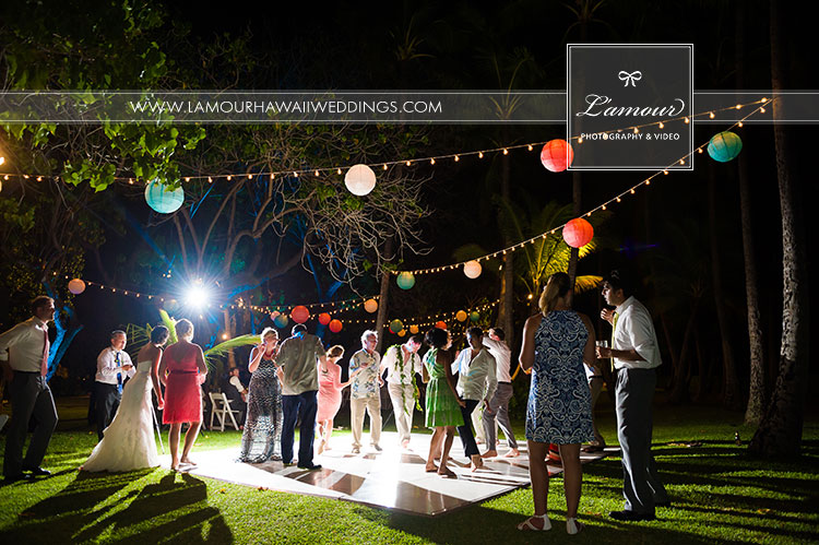 Hawaii wedding at Lanikuhonua by L'amour