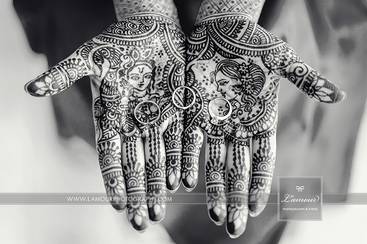 Hawaii wedding bride mehndi hands indian