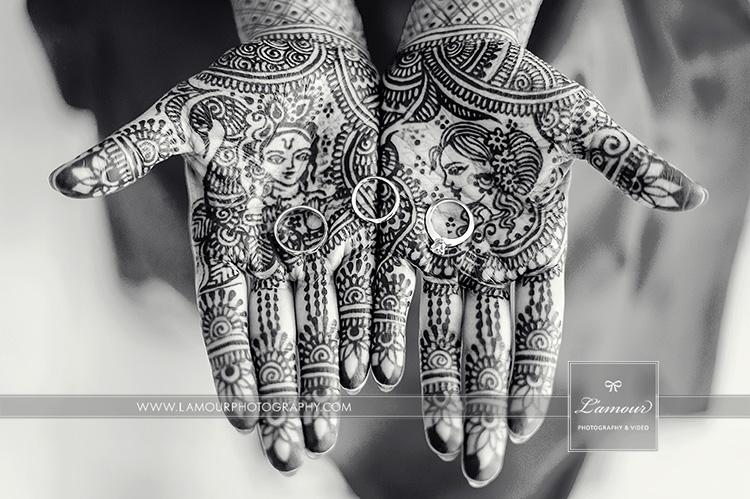 Hawaii wedding bride mehndi hands indian
