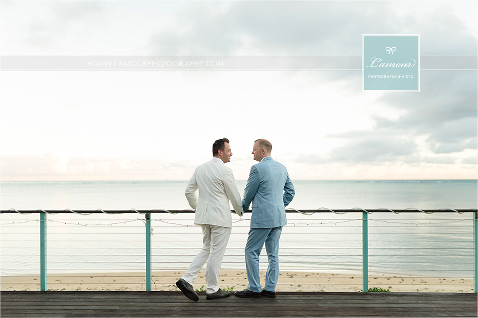 Hawaii Same Sex Wedding photo of two grooms