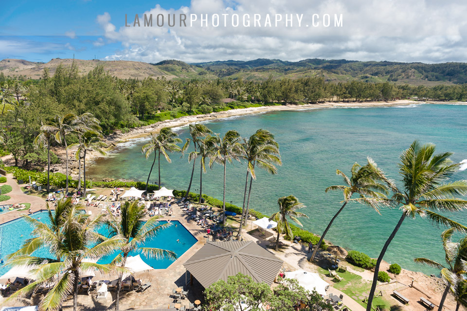 Hawaii wedding photography and video of destination wedding at Turtle Bay Resort on Oahu