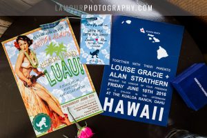 cute Hawaii wedding invitations for Waikiki wedding on Oahu by L'Amour