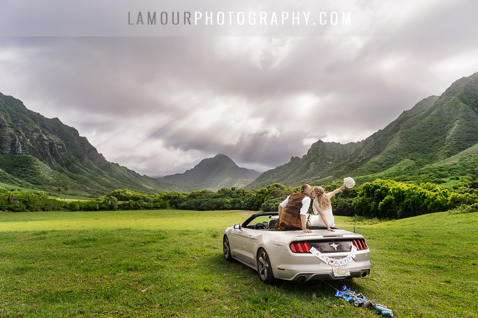 Kualoa Ranch wedding in Hawaii where Jurassic Park and Lost were filmed