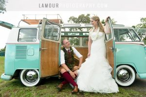 Scottish couple at Hawaii wedding take photos with L'Amour Photography