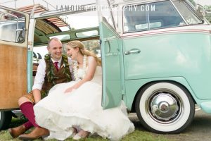Wedding in Hawaii photos by L'amour featuring cute Volkswagen bus
