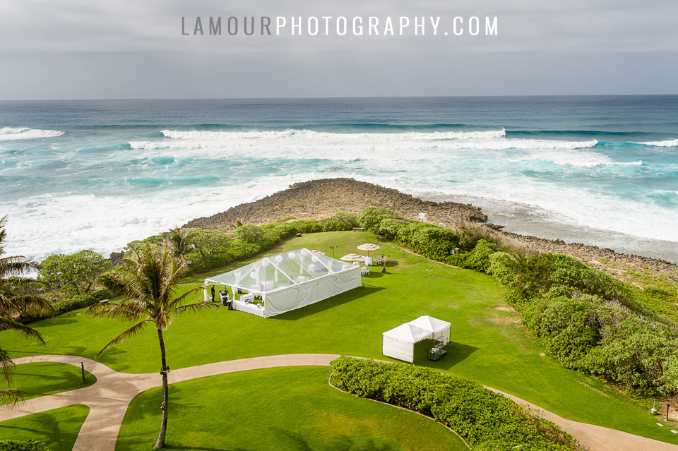 turtle nay resort wedding at kuilima point by l'amour photography