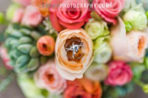 succulent and punk flower bouquet at hawaii wedding on oahu