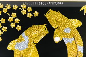 origami koi fish wedding gift at hawaii wedding in oahu