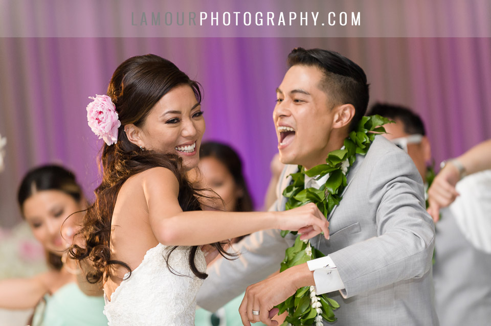 pastel color wedding scheme at hawaii wedding