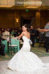 turtle bay wedding reception in ballroom