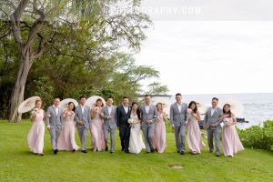 pink and blush color wedding in hawaii